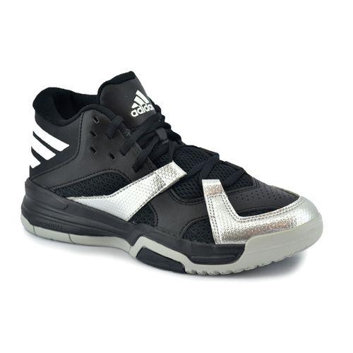 hot sale online a58ec 12d47 149 ad aq8512 · Adidas · Zapatilla Adidas Hombre First Step Basquet Negro Gris  Plata