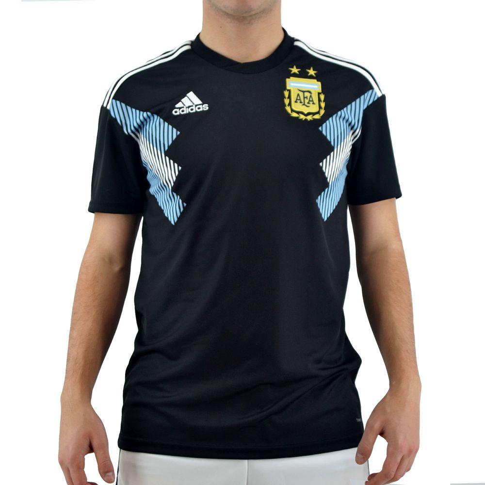 Camiseta Adidas Hombre Selección Argentina Afa A Jsy Negro - ferreira 7be279fcec6
