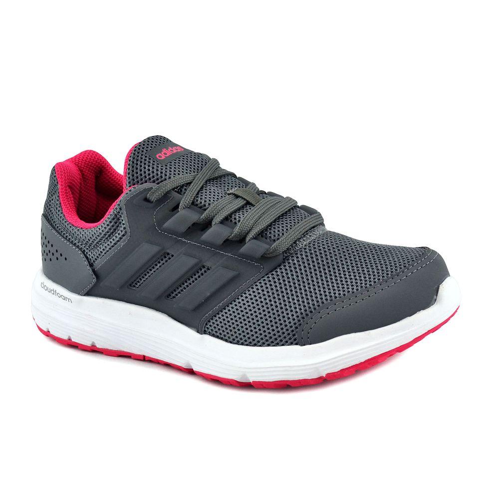 zapatillas adidas grises mujer running
