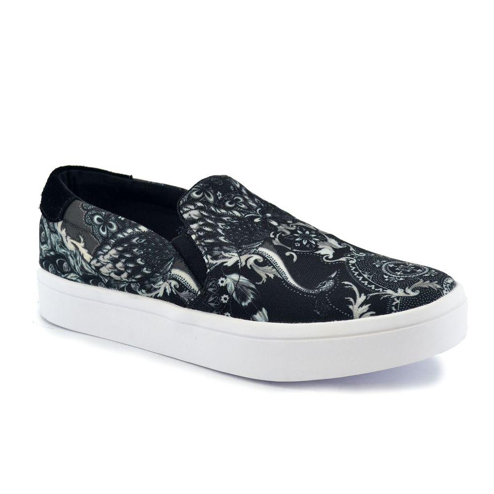 Zapatilla Adidas Mujer Courtvantage Slip On Estampado - ferreira 35a1c4d8fb59a