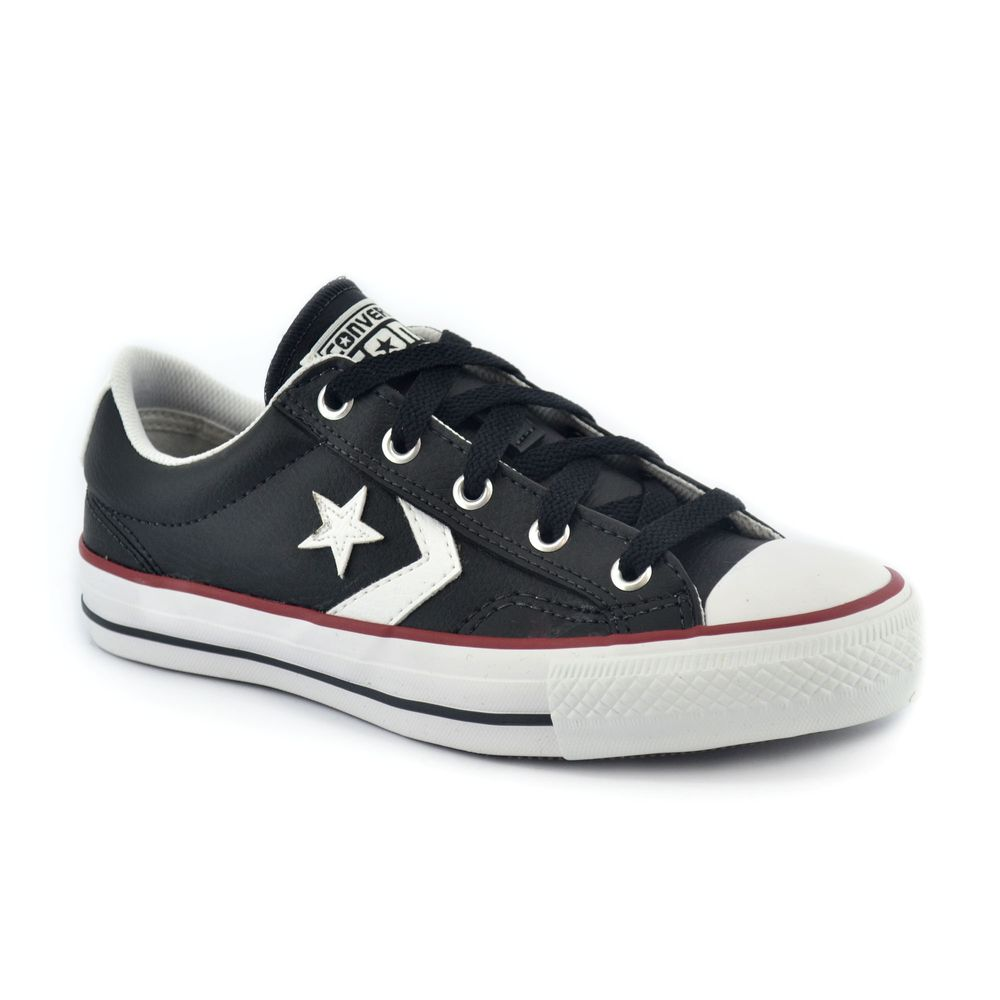 3e6812a84 Zapatilla Converse Star Player Ox Negro Rojo Blanco - ferreira