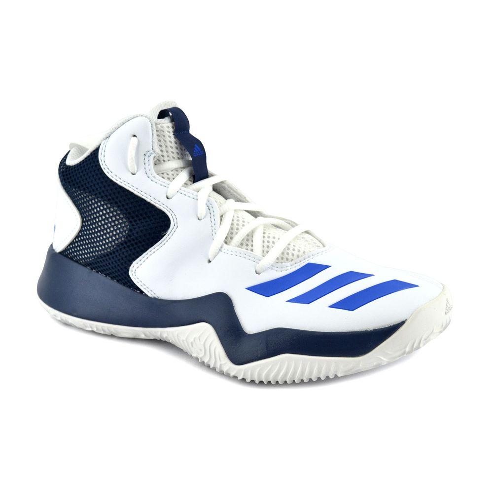 bd9a519cbf5 Zapatilla Adidas Hombre Crazy Team Ii Basquet Blanco Negro Azul ...