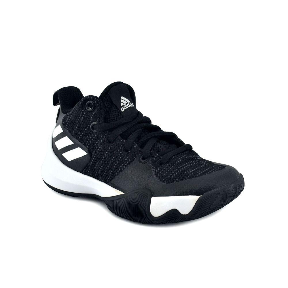 635b7cef2 Zapatilla Adidas Niño Explosive Flash K Basquet Negro Blanco - ferreira