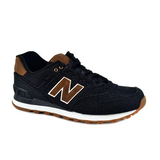new balance negro y marron