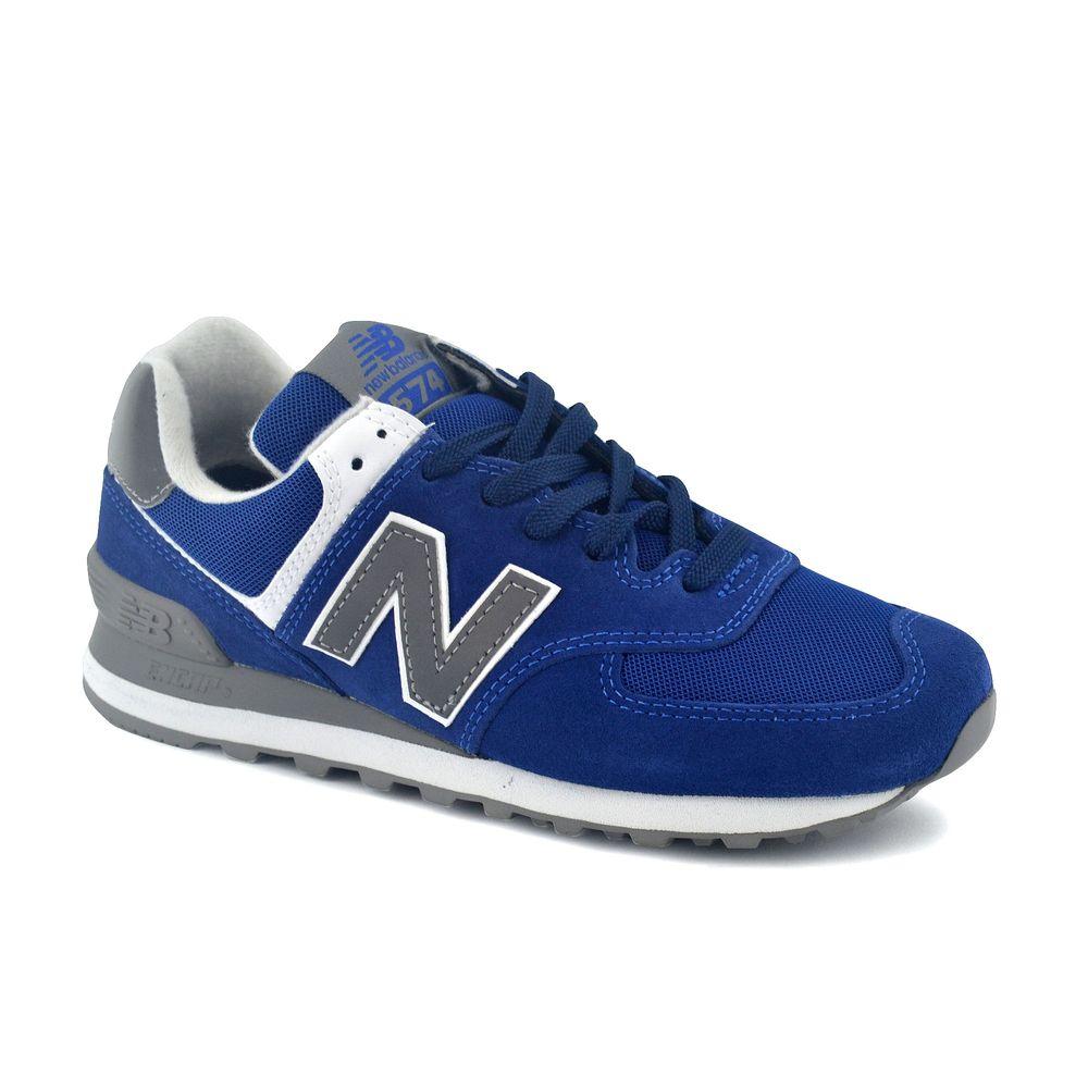 zapatillas new balance azul y gris