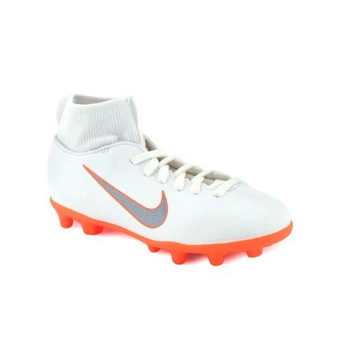 7f92c0d9a 2972 ni ah7339107 · NIKE · Botin Nike Niño Superfly 6 Mg Futbol Con Tapones  Blanco Naranja