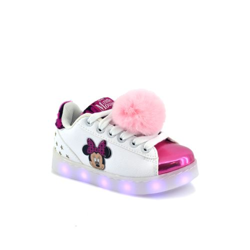 Zapatilla-Addnice-Niño-Led-Usb-Minnie-Estrella-Blanco