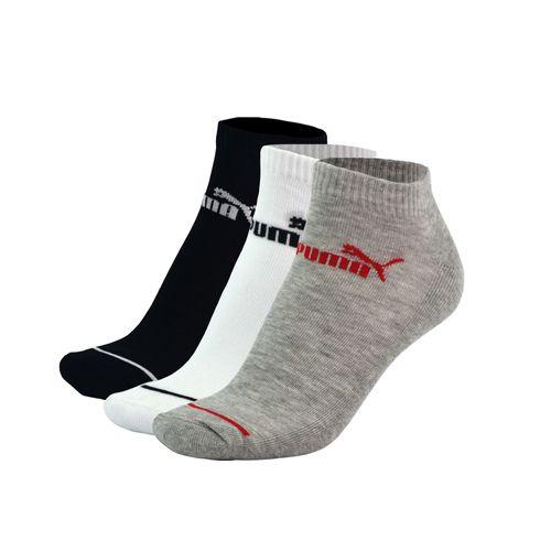 Zoquete-Puma-Sneaker-Half-Terry-3P-Training-Negro-Gris-Blanco