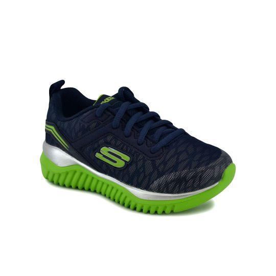 Zapatilla-Skechers-Niño-Turboshift-Running-Marino-Verde