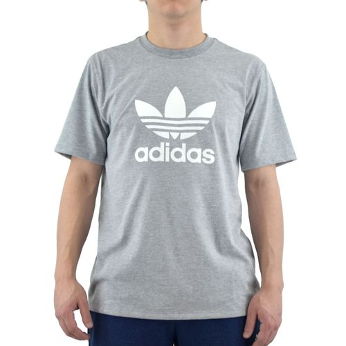 Remera-Adidas-Hombre-Trefoil-Gris-Blanco