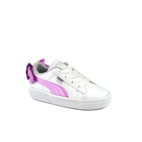Zapatilla-Puma-Bebe-Basket-Bow-Patent-Ac-Inf-Blanco