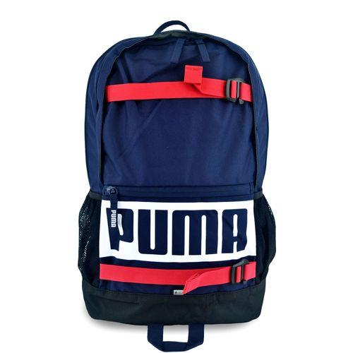 Mochila-Puma-Deck-Backpack-Azul-Rojo