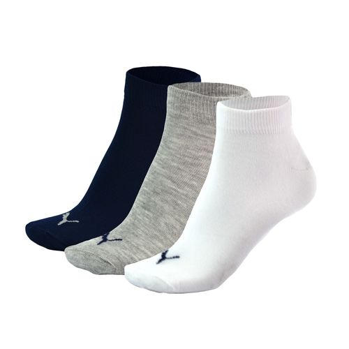 Zoquete-Puma-Quarter-Plain-3P-Training-Azul-Gris-Blanco