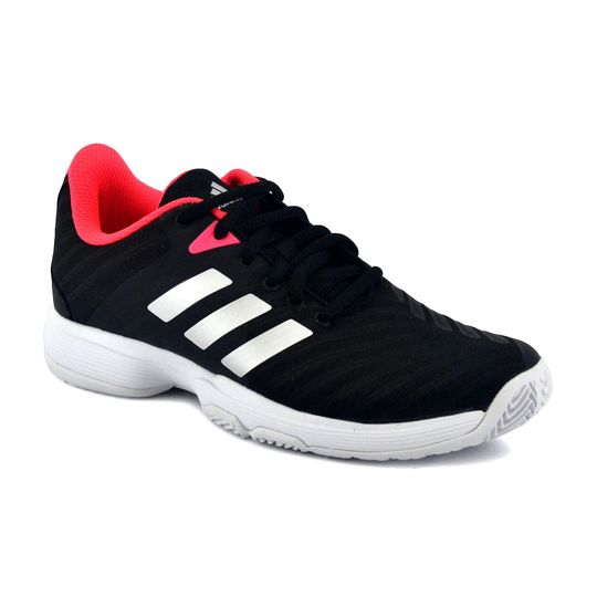 Zapatilla-Adidas-Mujer-Barricade-Court-W-Negro-Coral-principal