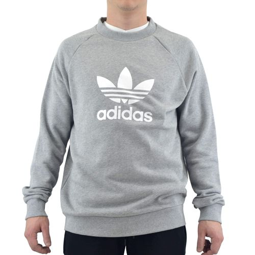 Buzo-Adidas-Hombre-Trefoil-Crew-Gris-Melange-principal