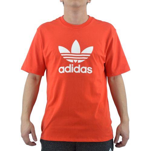 Remera-Adidas-Hombre-Trefoil-Rojo-Blanco-principal
