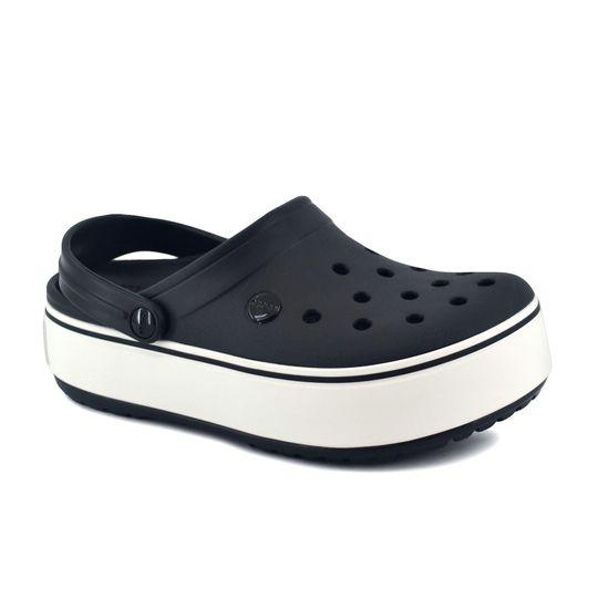 Sandalia-Croc-Mujer-Crocband-Platform-Negro-Blanco-Principal