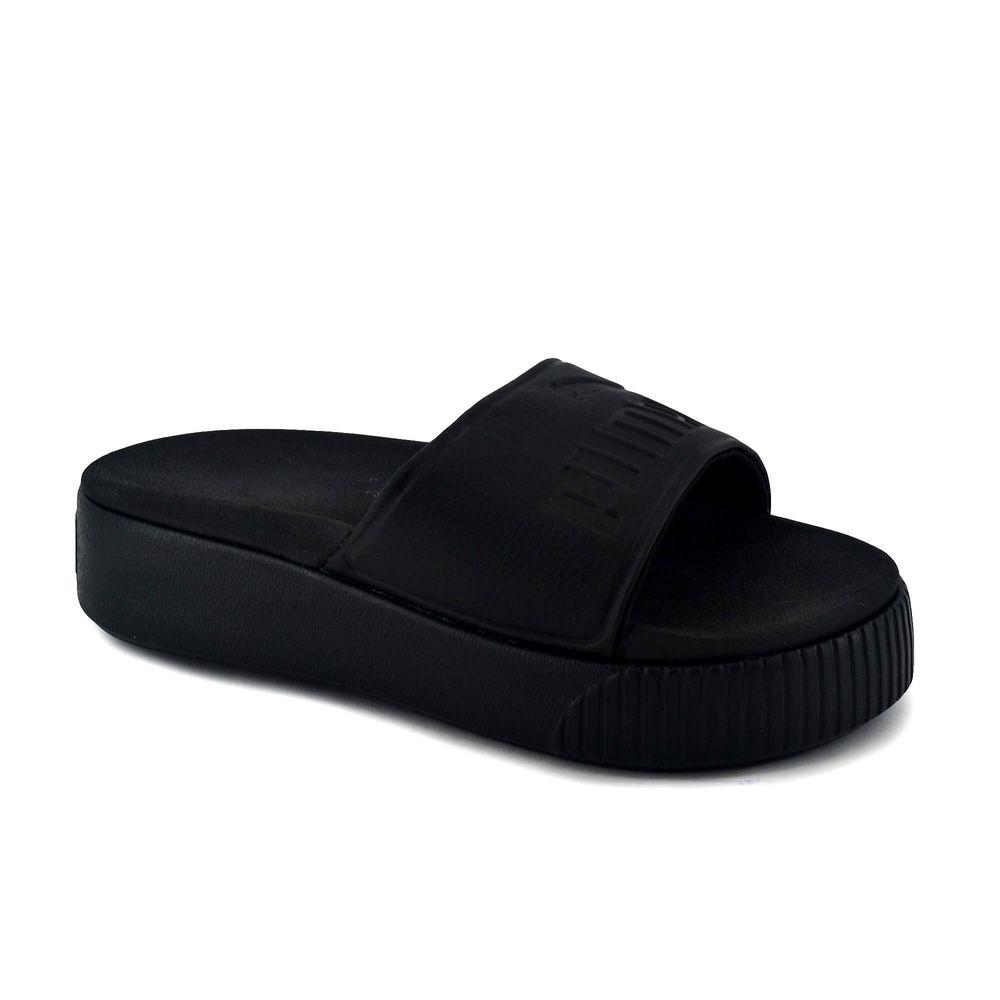 puma mujer plataforma en negro