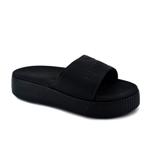 Chinela-Puma-Mujer-Platform-Slide-Bold-Negro-Principal