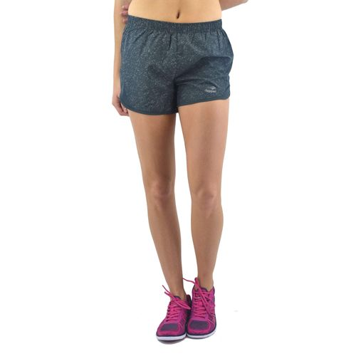 Short Topper Mujer Woven Running Gris