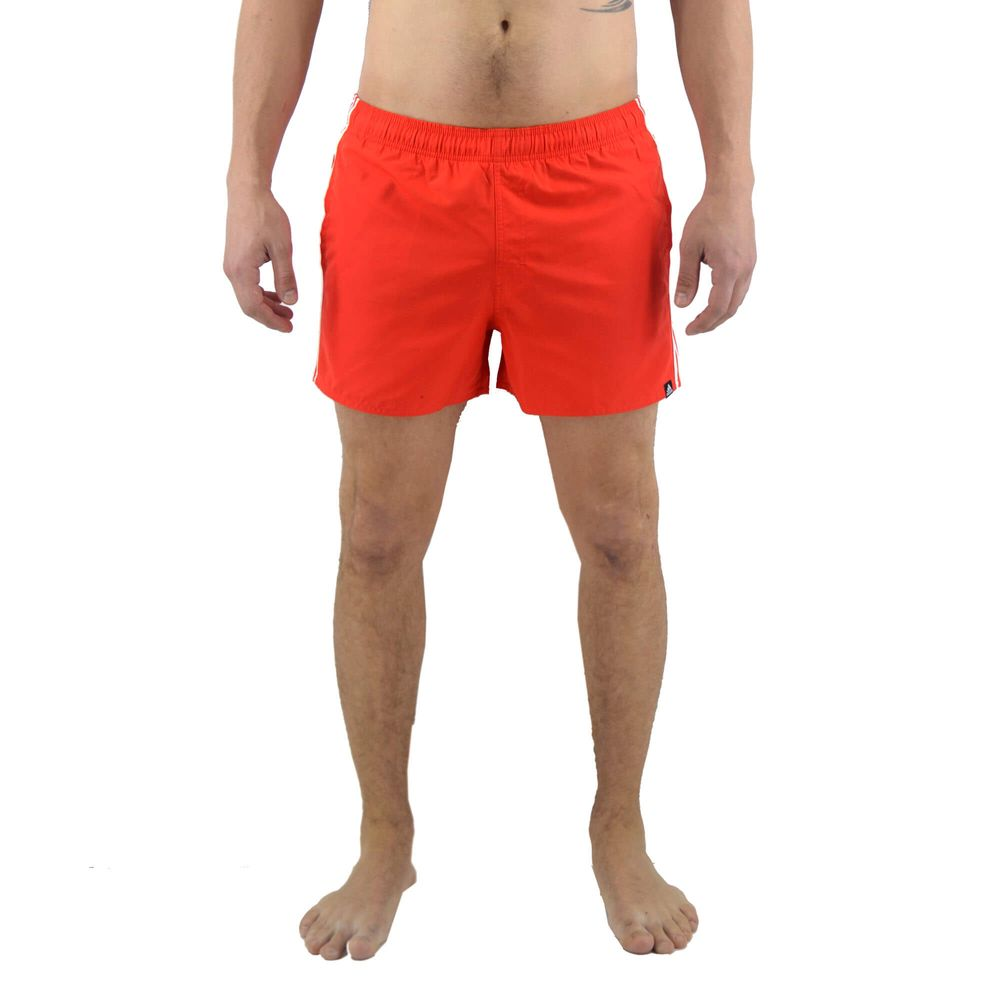 d63ad117f70d Short De Baño Adidas Hombre 3 Stripes Vsl Rojo