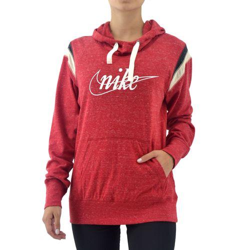 Buzo Nike Mujer Nsw Gym Vintage Hoodie Rojo