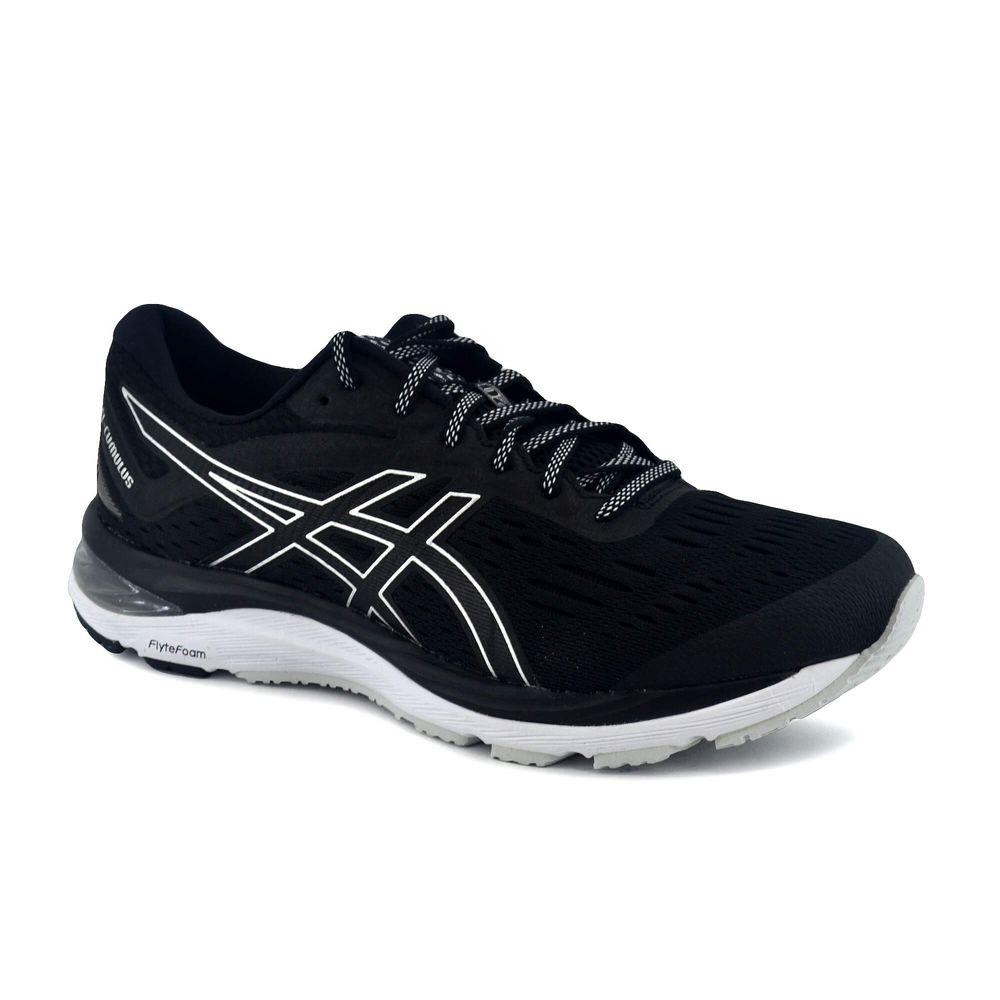 zapatillas asics running hombre negro