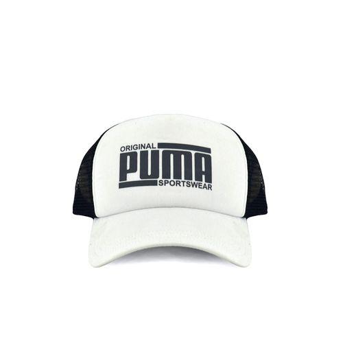 Gorra-Puma-Unisex-Style-Trucker-Blanco-Negro