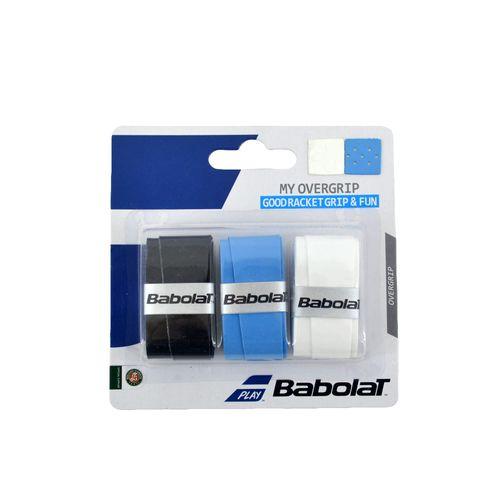 Grip-Babolat-Unisex-My-Overgrip-X3-Tenis-Negro-Celeste-Blanco