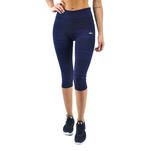 Capri-Vandalia-Mujer-Estampado-A-Rayas-Azul-Negro-Principal