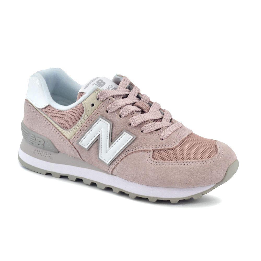 new balance rosa y dorado
