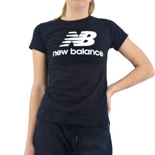 Remera-New-Balance-Mujer-Essentials-Logo-Negro-Principal