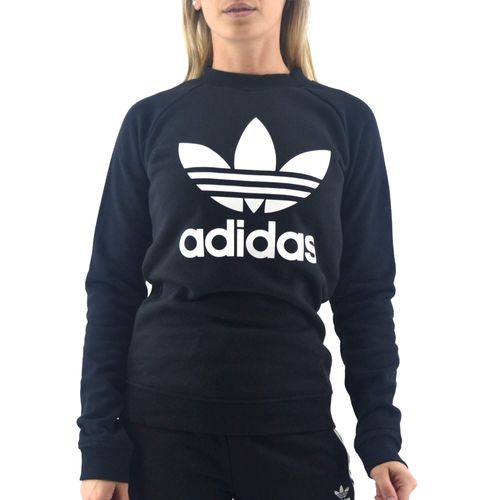 Buzo-Adidas-Mujer-Trefoil-Crew-Negro-principal