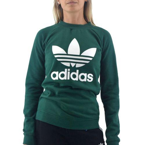 Buzo-Adidas-Mujer-Trefoil-Crew-Verde-Principal