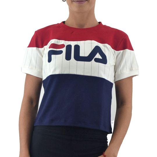 Remera-Fila-Mujer-Blusa-Fem-Alana-Marino-Rojo-Crud-principal