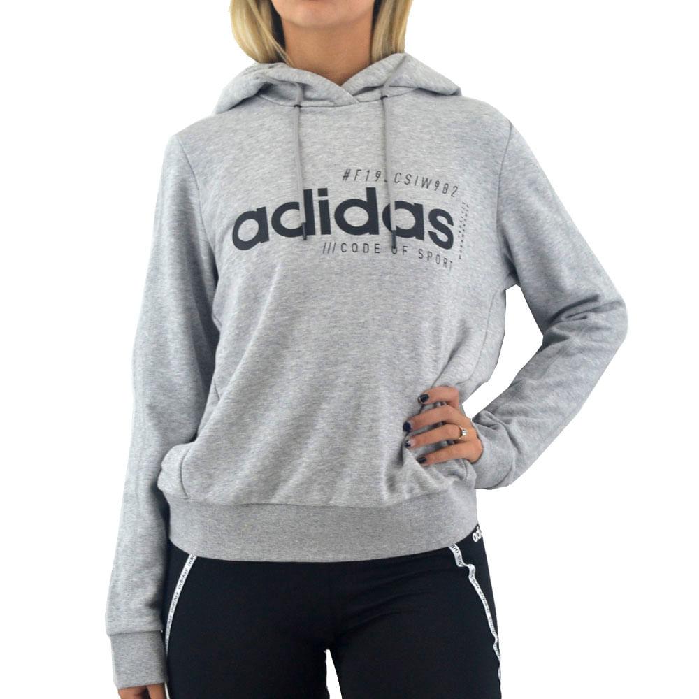 Buzo Adidas Mujer Bb Hoody Gris