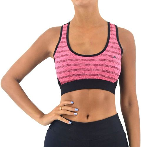 Top-Abyss-Mujer-Con-Jacquard-Y-Mesh-Training-Negro-Principal