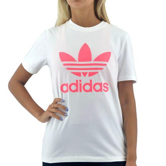 Remera-Adidas-Mujer-Trefoil-Blanco-Principal