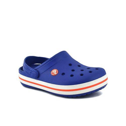 Sandalia-Crocs-Crocband-Kids-Cerulean-Blue-Naranja-Principal