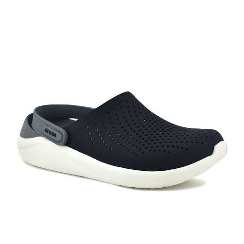 Sandalia-Crocs-Hombre-Literide-Clog-Negro-Blanco-Principal