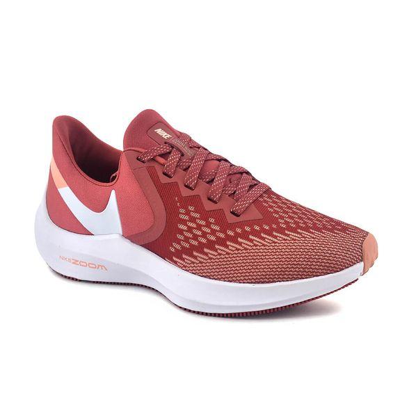 Zapatilla Nike Mujer Zoom Winflo 6 Running Bordo