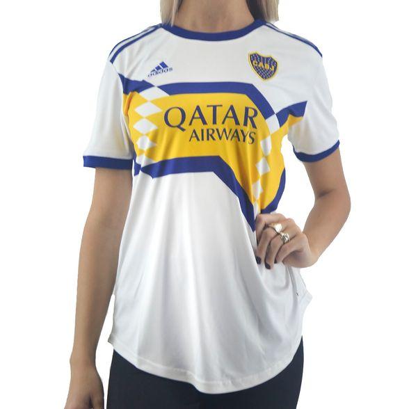 Camiseta Adidas Mujer Boca Away Jsy Blanco