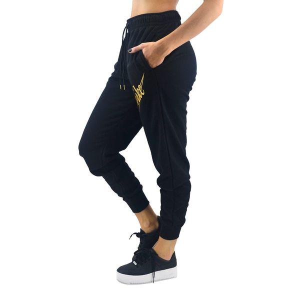 Pantalon Nike Mujer Nsw Fleece Glitter Negro