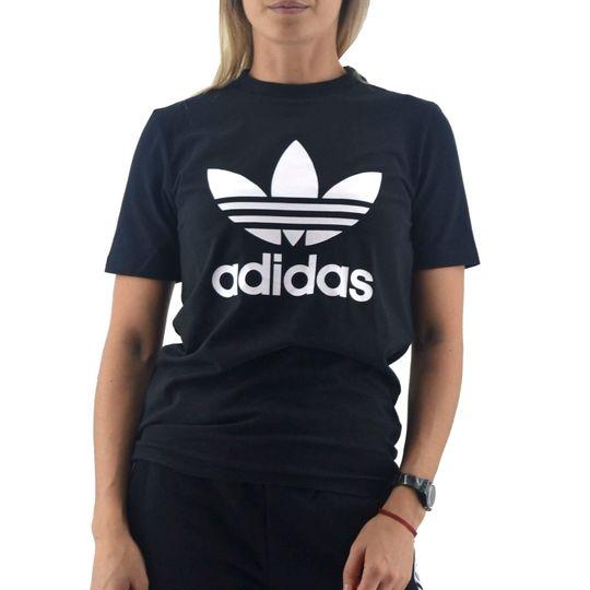 Remera-Adidas-Mujer-Trefoil-Negro-Blanco-principal